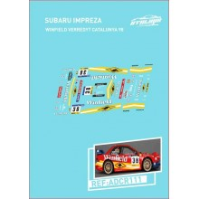 CALCAS 1/24 SUBARU IMPREZA S5 WRC'97 (CATALUNYA-COSTA BRAVA 1998)