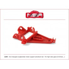 EVO EXTRA HARD RED TRIANGULAR AW MOTOR SUPPORT (HIGH GEAR RATIO)