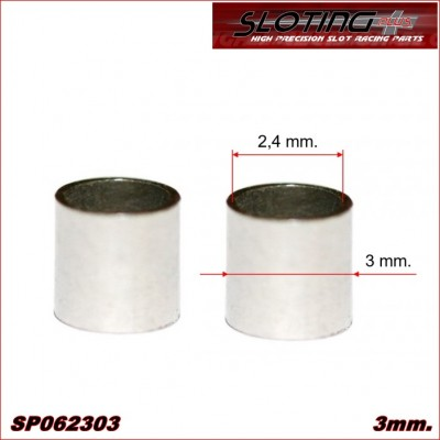 SPACER 3 mm MINI BRONZE for axle 2.38 mm (3/32)